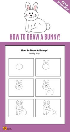 How To Draw a Bunny step by step for kids