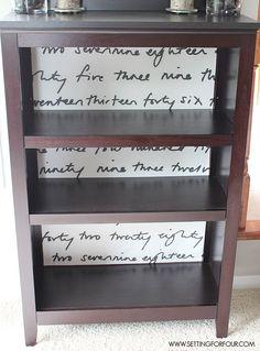 Make a Bookshelf unique - add fabric to back!