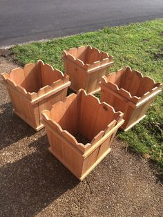 Cedar Fence Picket Planter Boxes For Your Garden Deck