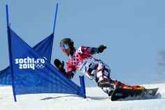 Vic Wild of Russia competes in the Snowboard Men's Parallel Slalom Qualification on day 15 of the 2014 Winter Olympics at Rosa Khutor Extreme Park on February 22, 2014 in Sochi, Russia.