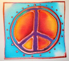 painted silk peace sign