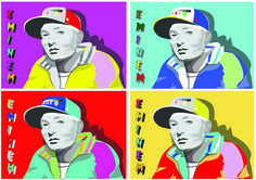 This was put together as an Andt Warhol style image. | Popart inspired posters. | Pinterest | Warhol