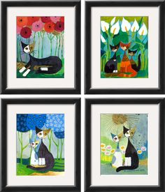 Rosina Wachtmeister Cat Paintings and Posters
