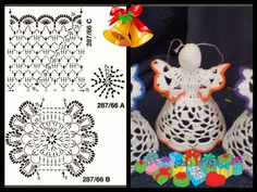 aniołek ze wzorem Little Angels ornaments. Crochet Christmas Decorations, Christmas Crochet Patterns, Crochet Christmas Ornaments, Crochet Snowflakes, Christmas Angels, Handmade Christmas, Christmas Crafts, Crochet Angel Pattern, Crochet Angels