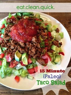 1lb ground turkey Several tablespoons homemade taco seasoning (recipe below) 3 hearts of Romaine Lettuce,  1 large cucumber,  2 ripe avocados,  2-3 roma tomatoes,  1 large red bell pepper,  4 scallions (green onions),  approx 1 cup salsa,   FOR THE TACO SEASONING 4 tbsp. chili powder,  3 tbsp. plus 1 tsp. paprika,  3 tbsp. ground cumin,  1 tbsp. plus 2 tsp. onion powder,  1 tsp. garlic powder,  1⁄4 tsp. cayenne pepper