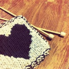 knitted mug rug idea