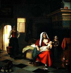 An Interior with a Mother and her Children by Pieter de Hooch
