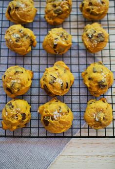 Pumpkin and tahini chocolate chunk cookies