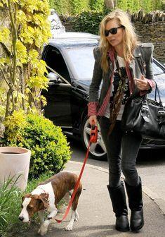 la modella mafia Kate Moss model off duty Balmain jacket 2