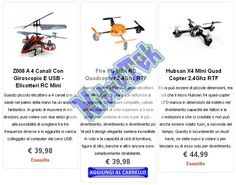 Our range of electric radio controlled helicopters is suitable for real enthusiasts, far higher than those with 2 or 3 channels that can be found in toy stores. All our helicopters are equipped with a Li-Po, a gyroscope and almost everyone has a trasmittetore of 2.4 Ghz, we also provide numerous options not available in regular toy stores.