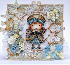 CHRISTMAS LANTERN MARCI. http://created-by-silviez.blogspot.com.au/2013/09/la-la-land-crafts-christmas-lantern.html