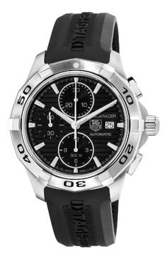TAG Heuer Mens CAP2110.FT6028 Aquaracer Black Chronograph Dial Watch: Watches: www.girardperregauxwatches.com