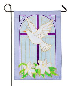 Look what I found on #zulily! Purple Dove & Cross Outdoor Flag #zulilyfinds