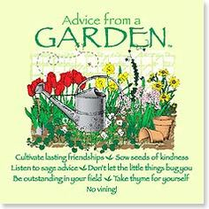 Magnet - Advice from a Garden | Your True Nature® | 26466 | Leanin' Tree
