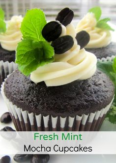 Fresh Mint Mocha Cupcakes - The Everyday Home (Guest Post)
