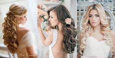 Długie, rozpuszczone włosy do ślubu