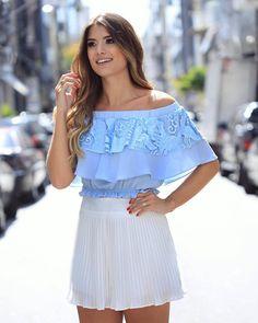 Cloude Jeans, Casual Skirts, Feminine Style, Dress Skirt, Work Wear, Ideias Fashion, Celebrity Style, Mini Skirts, Pleated Skirts