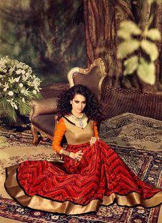 Kangana Ranawat mesmerising Anarkali find it on  NalluCollection.com  #kangana #anarkali #nallucollection