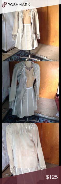 BEST GENUINE SUEDE FRINGED JACKET Love this jacket. Wore it maybe 3 X's Wet Seal Jackets & Coats Blazers