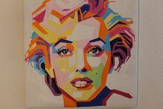 Olieverf op doek portret van Marilyn Monroe-Bright kleuren, unieke kwaliteit. Elke streek weerspiegelt de gevoelens van de kunstenaar. Pop-Art stijl. Omstreeks het einde van de 20e c. In perfecte staat. AFMETINGEN: 73 cm / 28.74 in lange x 72 cm / 28,35 in brede Perfect verpakt. Verzekerde verzending via Catawiki.