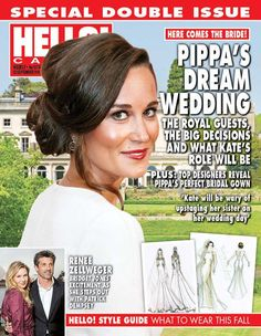 """HELLO! Canada on Twitter: """"In our current issue: We dream about #PippaMiddleton's big day! Pippa And James, Kate And Pippa, Middleton Family, Pippa Middleton, Pippas Wedding, Dream Wedding, James Matthews, Renee Zellweger, Princess Kate"""