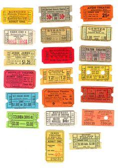 Vintage Movie Tickets