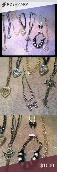 Lot of authentic Betsey Johnson vintage necklaces Lot of authentic Betsey Johnson vintage necklaces. Will sell individually. Offer me a price for a necklace and I'll create a separate listing. Betsey Johnson Jewelry Necklaces