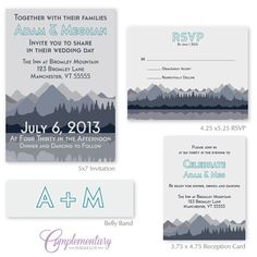 Hey, I found this really awesome Etsy listing at https://www.etsy.com/listing/151570108/meghan-mountain-blue-gray-modern-wedding