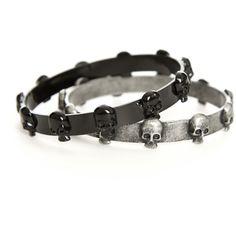 skull bands....bracelets or choker???