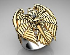 #Unique Mens Ring Eagle Ring... To see more cool stuff be sure to visit my blog! Also please Like Thanks!