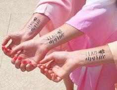 Tatoo team mariée  -team bride - tatouages temporaires - evjf