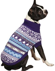 East Side Collection Ski Lodge Sweater, X-Small, Blue -- To view further, visit now : Dog sweaters