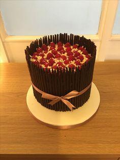 White chocolate and raspberry birthday cake Wedding and Birthday