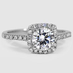 18K White Gold Sonora Halo Diamond Ring (1/4 ct. tw.)