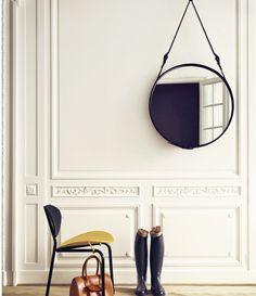 -trend-hanged-mirror- Adnet round mirror by Gubi #round #mirror #trend ITALIANBARK blog