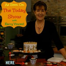 Kerry Vincent on Today Show showing how to use stencils and cupcake wraps