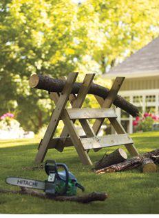 Brush and Log Sawhorse