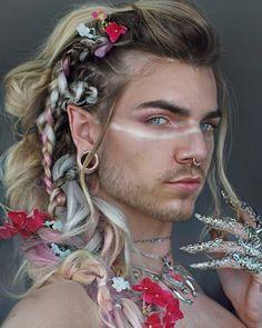 Tips For Changing Your Hairstyle – Hair Wonders Dark Beauty, Hair Art, My Hair, Nils Kuiper, Beautiful Men, Beautiful People, Male Makeup, Fantasy Makeup, Pretty People