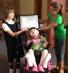 Ohio child with cerebral palsy helps a 4-year-old with same diagnosis  http://www.coshoctontribune.com/article/20131008/NEWS01/310080033/Local-child-cerebral-palsy-helps-4-year-old-same-diagnosis