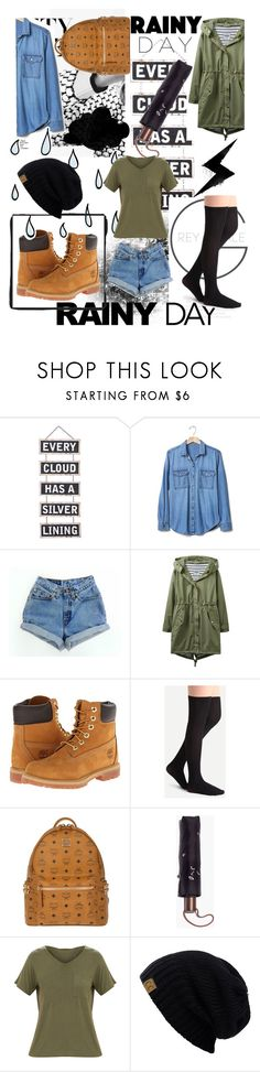 """""""Winter rain."""" by jelena-bozovic-1 ❤ liked on Polyvore featuring Silver Lining, Gap, Joules, Timberland, MCM and Madewell"""