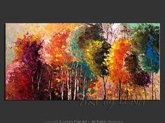 """Northern Colors"" - Original Landscape Art by Lena Karpinsky, http://www.artbylena.com/original-painting/20615/northern-colors.html"