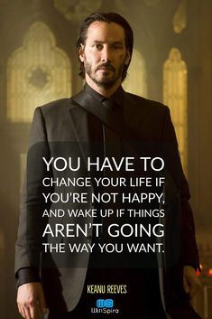 22 Keanu Reeves Quotes about Life and ♥️ - Winspira Motivational Quotes For Life, Wise Quotes, Positive Quotes, Inspirational Quotes, Keanu Reeves Zitate, John Wick, Amazing Quotes, Great Quotes, Keanu Matrix