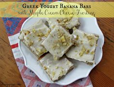 Chicago Jogger: Greek Yogurt Banana Bars with Maple Cream Cheese Frosting.