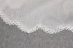 Love this scalloped hem with entredeux and lace.