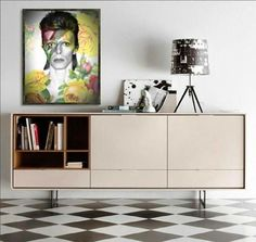 David Bowie Floral Wall Art   Lisa Jaye Art Designs
