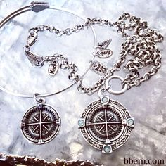 Guide Me Compass & Moriel Necklace at bbeni.com. The name Moriel means God is my teacher, Jehovah is my guide.