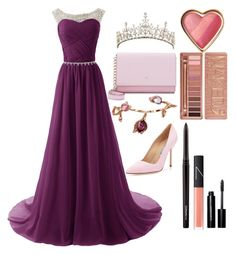 """Prom Queen"" by silverowlett ❤ liked on Polyvore featuring Plukka, Kate Spade, Urban Decay, MAC Cosmetics, Bobbi Brown Cosmetics, NARS Cosmetics, Manolo Blahnik, women's clothing, women and female"