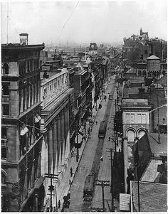 St. James Street, looking East, Montreal, QC, about 1910 by Musée McCord Museum, via Flickr