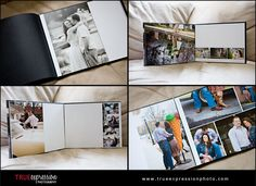Make a photobook of engagement photos, and leave blank space so that it can become a wedding guestbook.