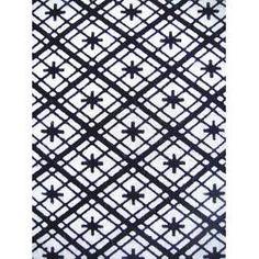 Cotton japanese yukata kimono fabric indigo blue white abstract diamond 1m (9m available)